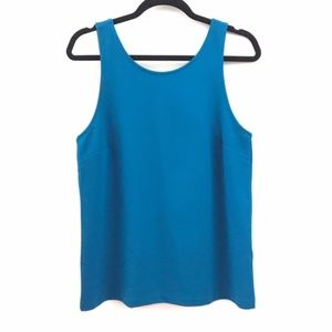J. Crew Factory Fitted VBack Tank Blue size M